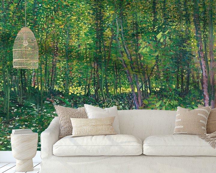 Sfeerimpressie behang: Vincent van Gogh, Bos met kreupelhout