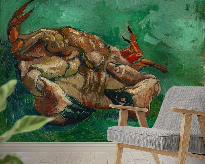 Sfeerimpressie behang: Vincent van Gogh, Crustacean, liggend op zijn rug