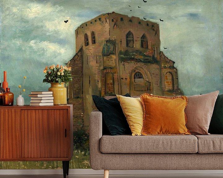 Sfeerimpressie behang: Vincent van Gogh, De oude kerktoren te Nuenen