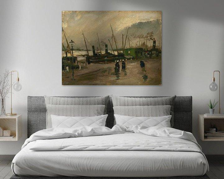Sfeerimpressie: Vincent van Gogh, De Ruijterkade te Amsterdam