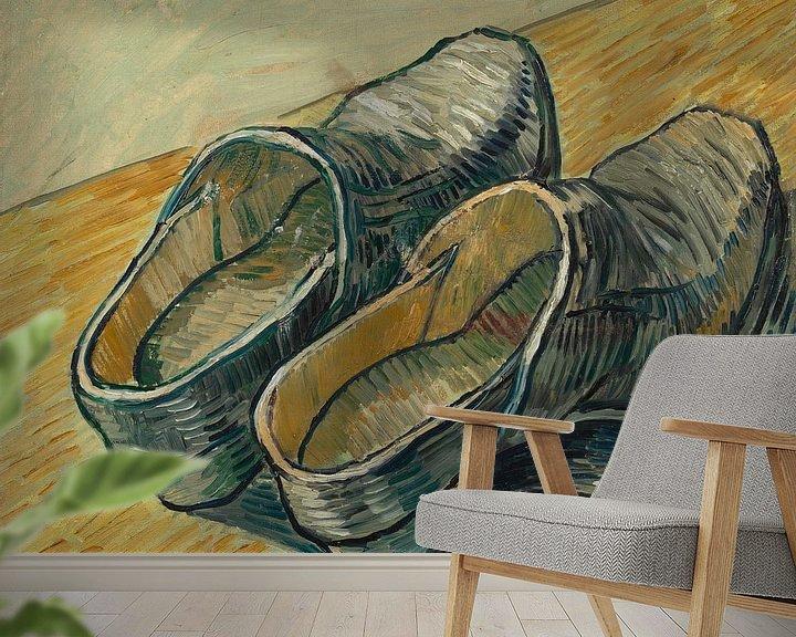 Sfeerimpressie behang: Vincent van Gogh, Een paar leren klompen
