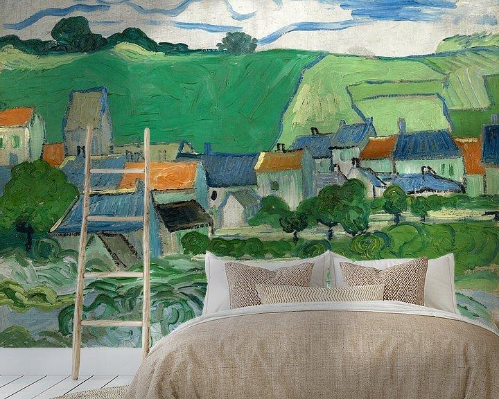 Sfeerimpressie behang: Vincent van Gogh, Gezicht op Auvers