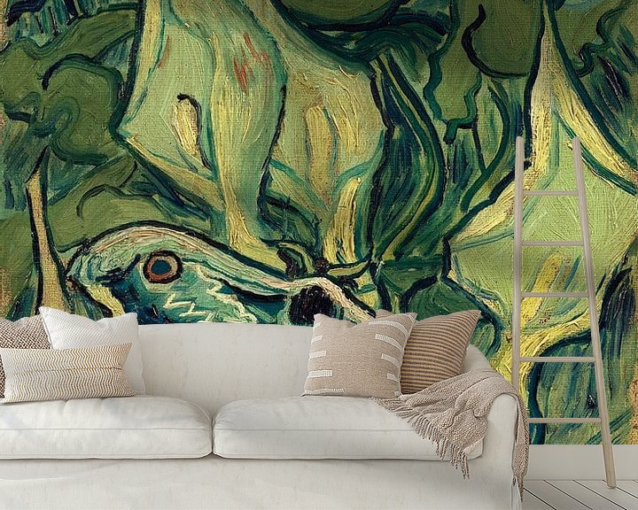 Sfeerimpressie behang: Vincent van Gogh, Grote nachtpauwoog