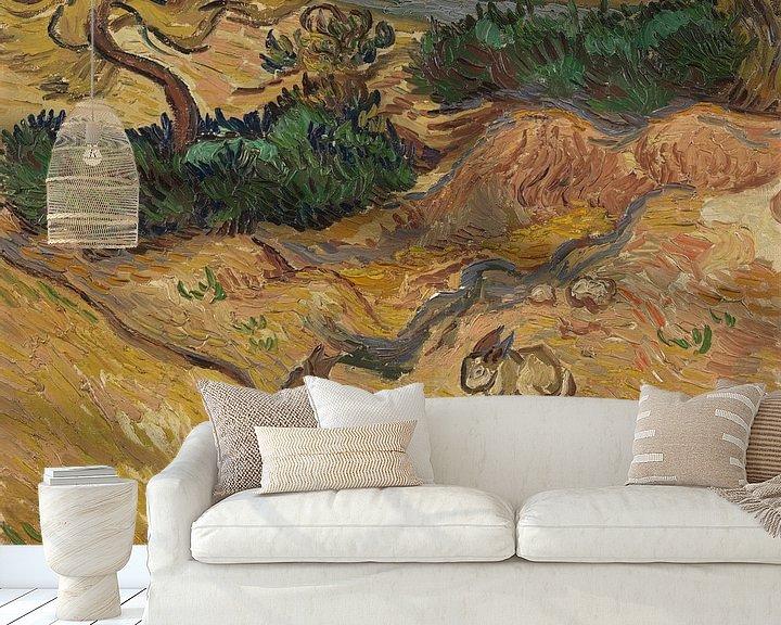 Beispiel fototapete: Vincent van Gogh, Landschaft mit Kaninchen