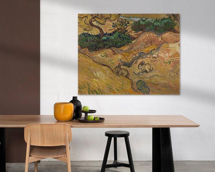 Beispiel: Vincent van Gogh, Landschaft mit Kaninchen