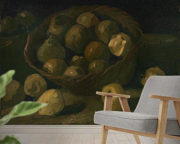 Sfeerimpressie behang: Vincent van Gogh, Mand met appels
