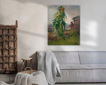 Vincent van Gogh, Gemüsegarten mit Sonnenblume