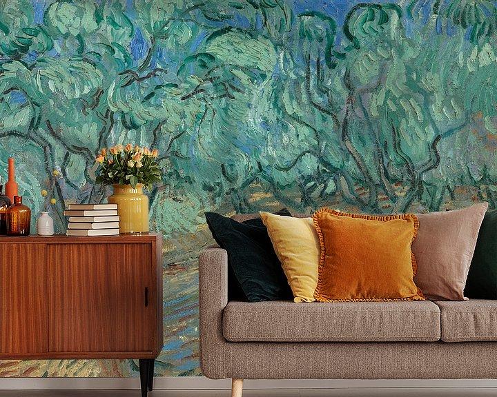 Sfeerimpressie behang: Vincent van Gogh, Olijfgaard