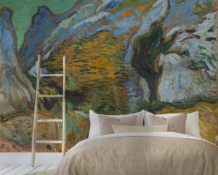 Beispiel fototapete: Vincent van Gogh, Schlucht mit einem Bach