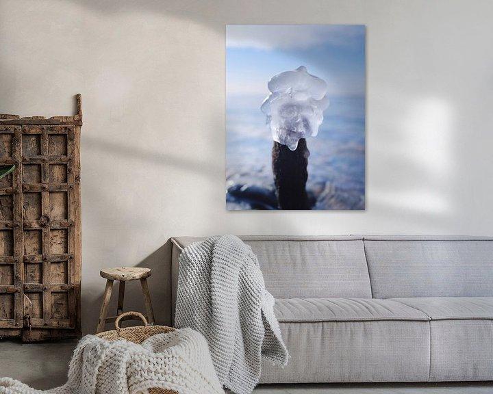 Beispiel: Eis am Stiel – Darß Weststrand im Winter 2018 von Jörg Hausmann