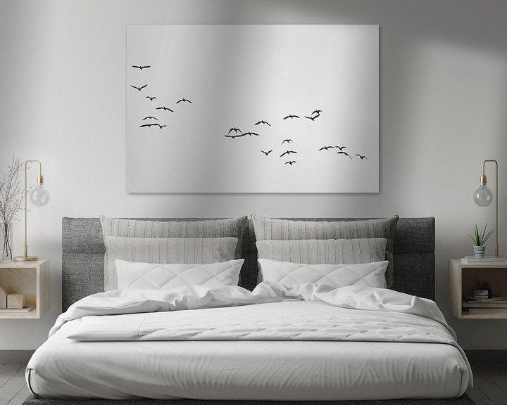 Sfeerimpressie: A Flock of Cormorants van Jörg Hausmann