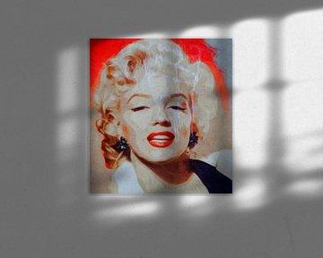 Marilyn Monroe - Orange Beige Vintage Beat  von Felix von Altersheim