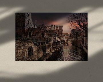 Stukje Brugge  vanaf Bonifaciusbrug