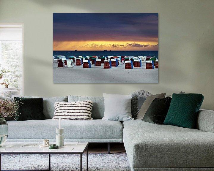 Beispiel: Geheimnisvolles Wolkenfenster am Ostseehimmel von Silva Wischeropp