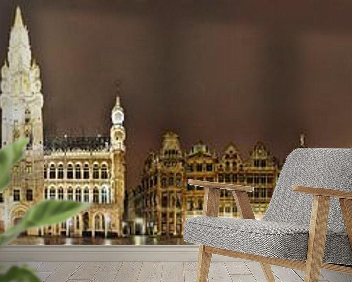 Beispiel fototapete: Brüssel Grand Place Panorama komplett von Panorama Streetline