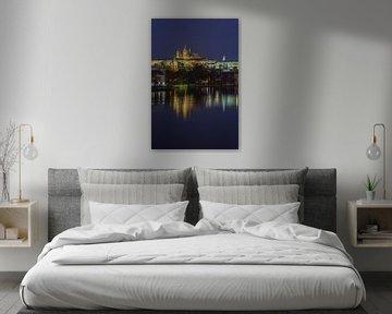 Prager Burg und Karlsbrücke am Abend - Prag, Tschechische Republik - 14 sur Tux Photography