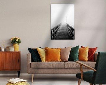 Holzbrücke mit Lampe von Jana Behr