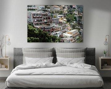 Schitterend zicht op Positano in Italië