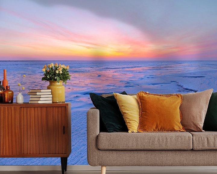 Sfeerimpressie behang: IJs op de Waddenzee van Karla Leeftink