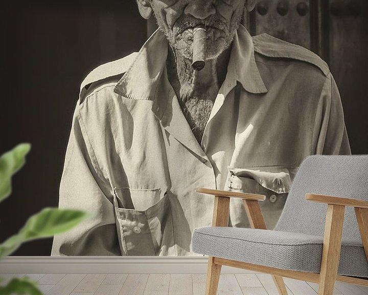 Beispiel fototapete: Portret van een Havana rokende, lokale Cubaan in de straten van Havana, Cuba von Original Mostert Photography