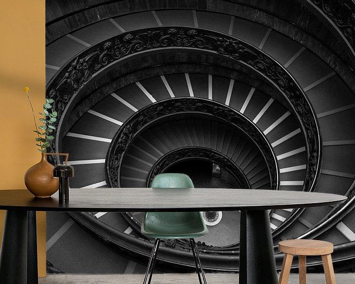 Sfeerimpressie behang: Bramante trap van Jaco Verheul