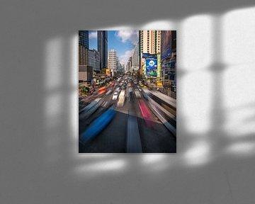 Bangkok traffic van Niels Tichelaar
