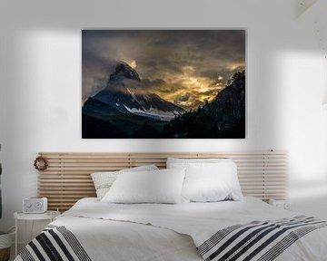 Matterhorn bij zonsondergang Zermatt van Cathy Janssens