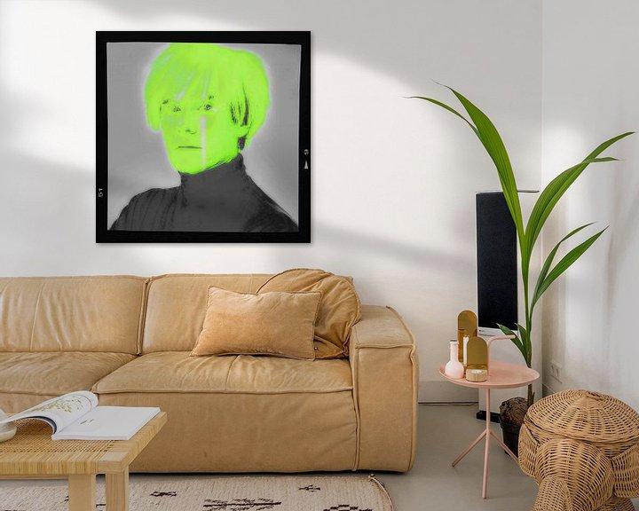 Impression: Motiv Porträt - Andy Warhol - Neon Film Cut sur Felix von Altersheim