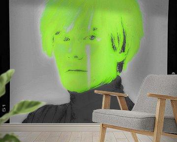 Motiv Porträt - Andy Warhol - Neon Film Cut van Felix von Altersheim