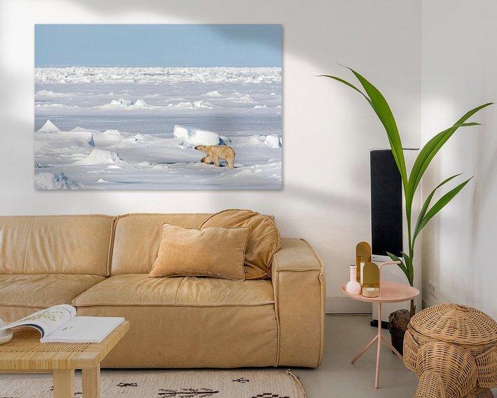 Sfeerimpressie: IJsbeer op weids ijslandschap van AGAMI Photo Agency