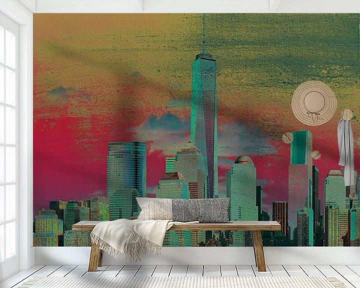 Sfeerimpressie behang: 8. city-art, NY, Manhattan 1 van Alies werk