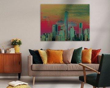 8. city-art, NY, Manhattan 1 van Alies werk