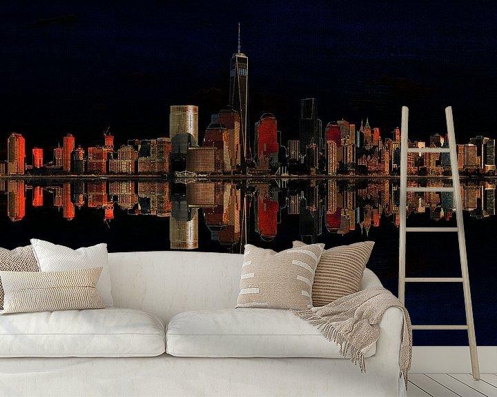 Sfeerimpressie behang: 9. city-art, NY, Manhattan 2 van Alies werk