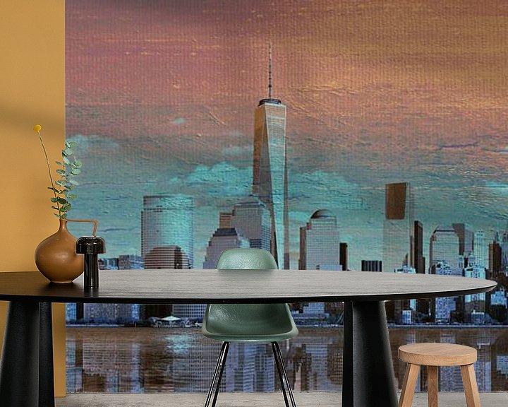 Sfeerimpressie behang: 11. city-art, NY, Manhattan 4 van Alies werk
