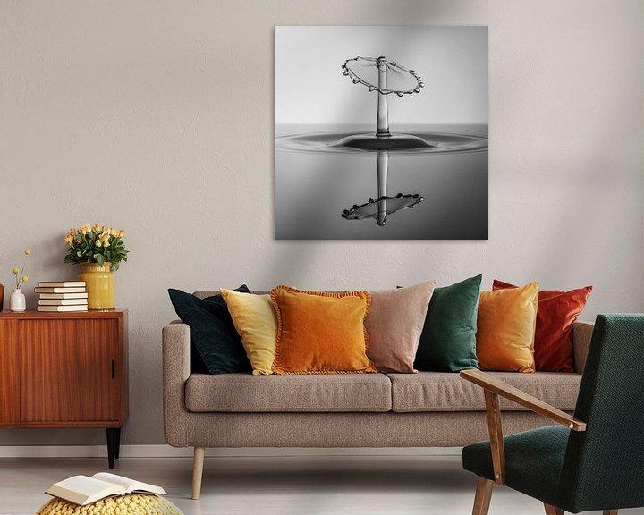 Sfeerimpressie: Zwart/Wit Splash Art met reflectie van Marc Piersma