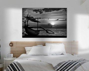 zonsondergang indonesie von Jan Pel