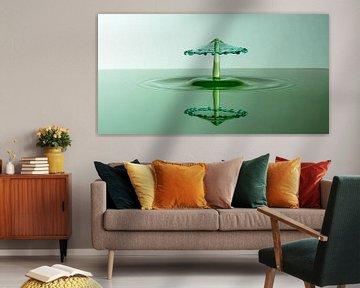 Splash Art Green Panorama van Marc Piersma
