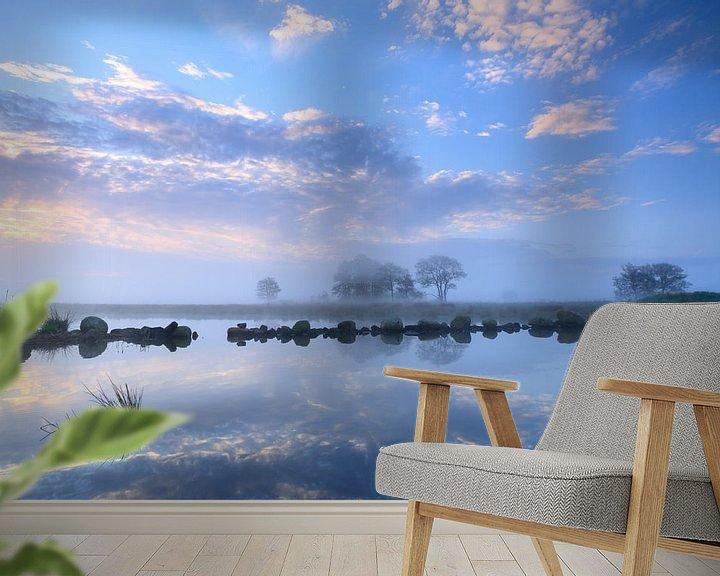 Sfeerimpressie behang: Onlanden wolkenpracht van Sander van der Werf