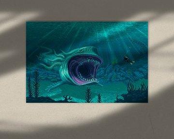 Shark monster (PIXEL ART)