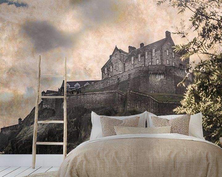 Sfeerimpressie behang: Edinburch kasteel van Freddy Hoevers