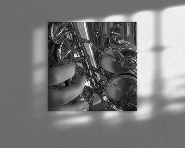 saxofoonspeler van Bianca Muntinga