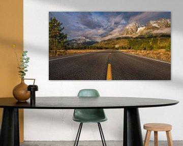 Road to the Grand Tetons Wyoming von Kees Jan Lok