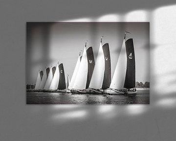 Start zeilwedstrijd met skûtsjes van ThomasVaer Tom Coehoorn