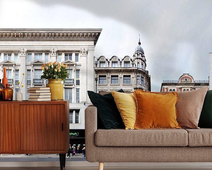 Beispiel fototapete: London Oxford Street Panorama von Panorama Streetline
