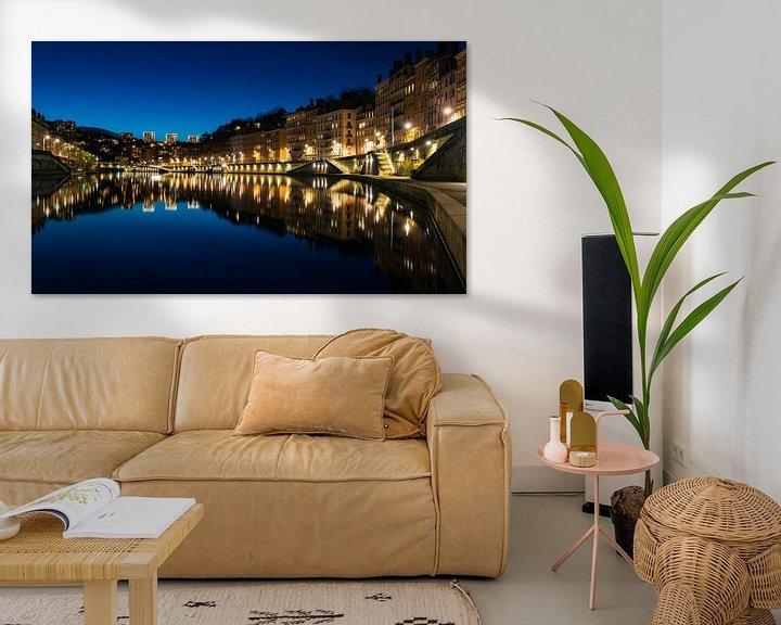Sfeerimpressie: Saône by night van Steven Groothuismink