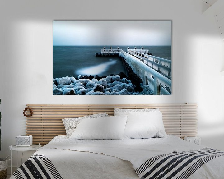 Sfeerimpressie: Bevroren pier van Steven Groothuismink