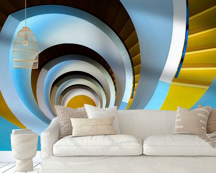 Sfeerimpressie behang: De eindeloze spiraal van Steven Groothuismink