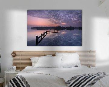 Tranquil Dutch sunset sur Sander van der Werf