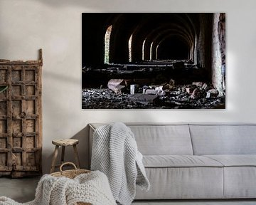 Industrielle Details einer verlassenen Ziegelsteinfabrik von Fotografiecor .nl