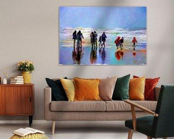 Strandspaziergang von Frans Van der Kuil